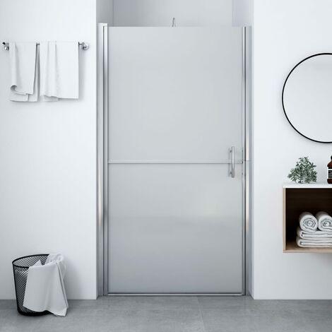 Shower Door Frost Tempered Glass 100x178 cm