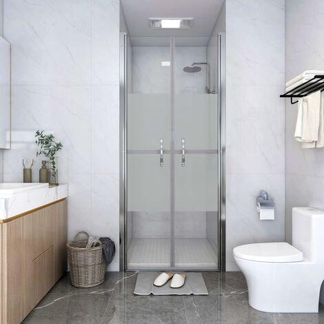 Shower Door Half Frosted ESG 91x190 cm