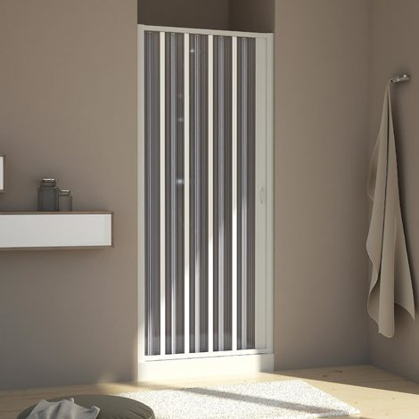 Shower door in PVC mod. Aura with side opening