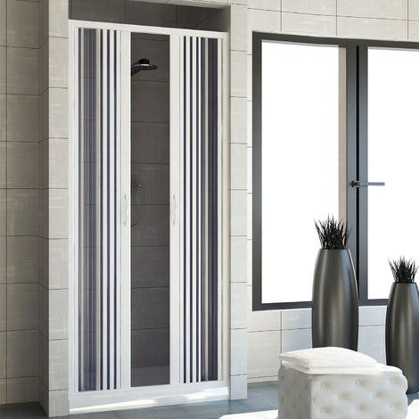 Shower Door Plastic PVC mod. Vergine with central opening
