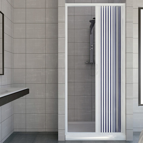 Shower Door Plastic PVC mod. Vergine with side opening