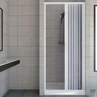 Shower Door Plastic PVC mod. Vergine with side opening