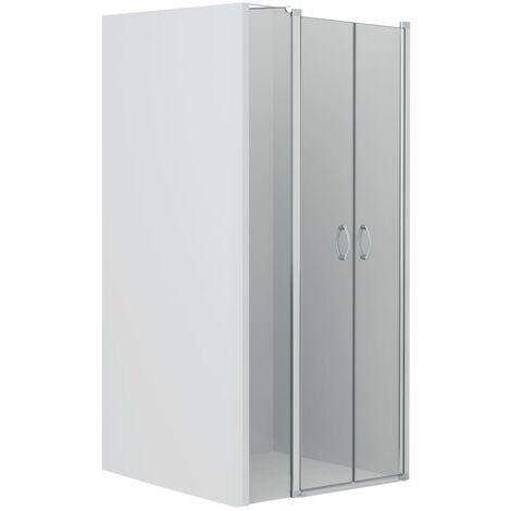 Shower Doors Clear ESG 100x185 cm