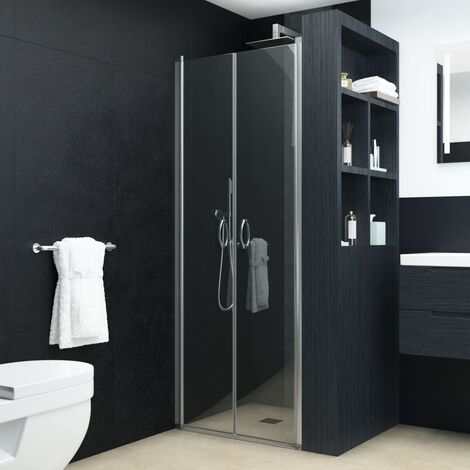 Shower Doors Clear ESG 80x185 cm