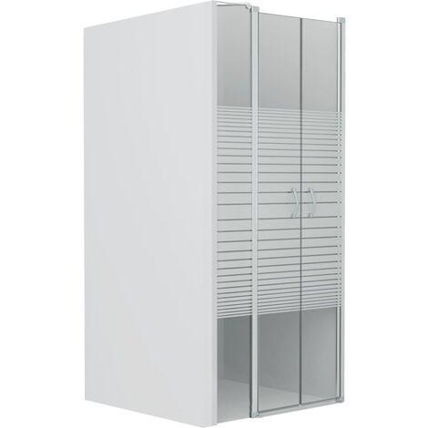 Shower Doors Half Frosted ESG 100x185 cm