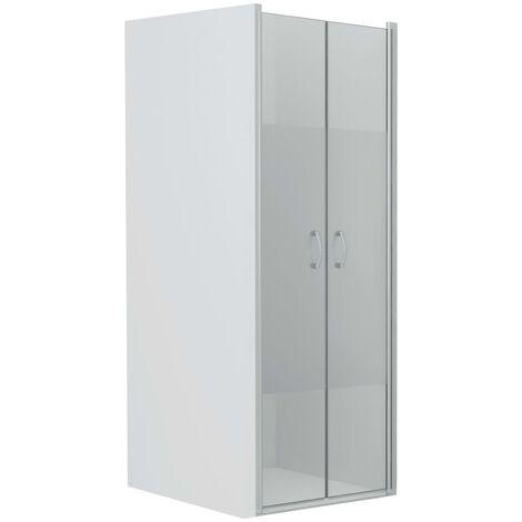 Shower Doors Half Frosted ESG 70x185 cm