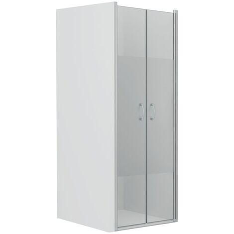 Shower Doors Half Frosted ESG 80x185 cm