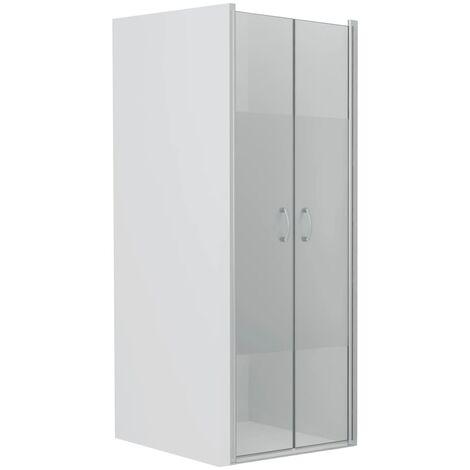 Shower Doors Half Frosted ESG 85x185 cm