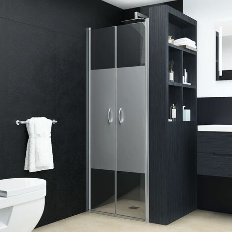 Shower Doors Half Frosted ESG 90x180 cm