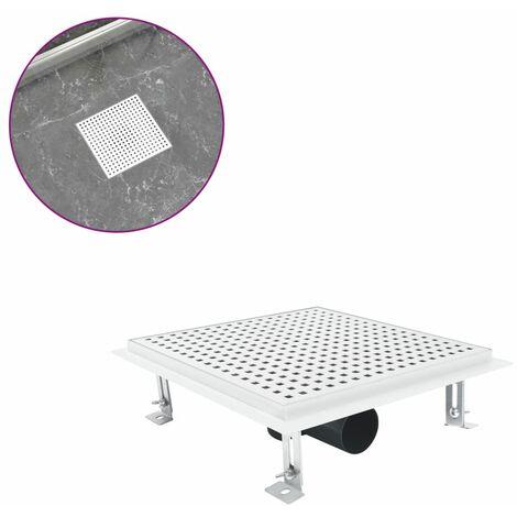 Shower Drain 25x25 cm Stainless Steel