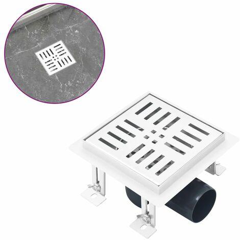 Shower Drain Checker 12x12 cm Stainless Steel
