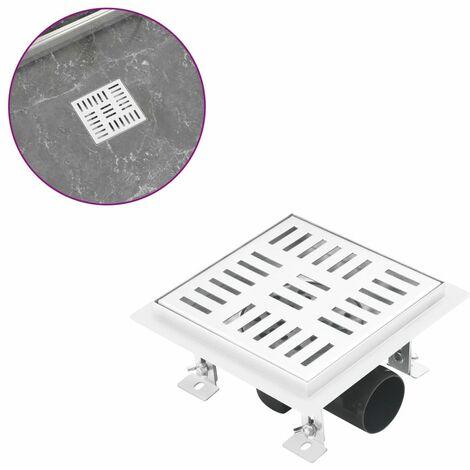 Shower Drain Checker 15x15 cm Stainless Steel