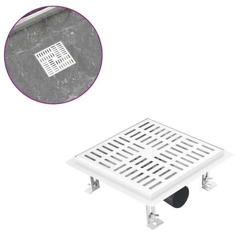 Shower Drain Checker 20x20 cm Stainless Steel