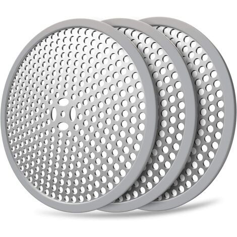 Shower Drain Hair Catch / 3pcs Bath Drain Protector and Strainer, Stainless Steel 304 (Combo 3pcs