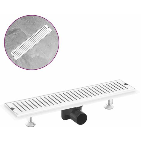 Shower Drain Vents 53x14 cm Stainless Steel