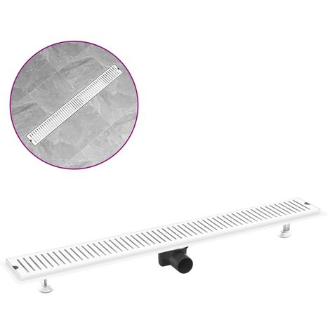 Shower Drain Vents 93x14 cm Stainless Steel