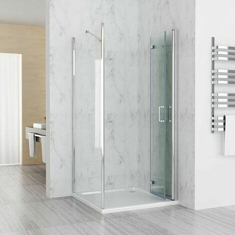 Shower Enclosure Cubicle Door with Side Panel 6mm Easy Clean NANO Glass Bifold Door