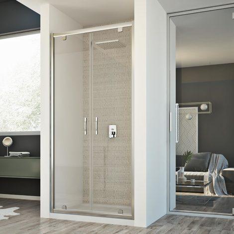 Shower Enclosure door mod. Cristal 2 Doors