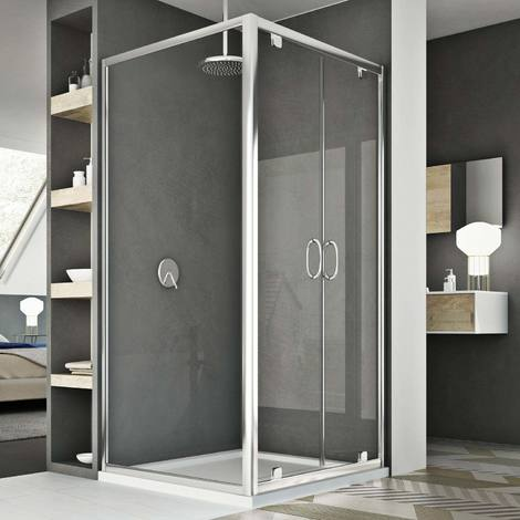 Shower enclosure mod. Sintesi Duo 2 Doors
