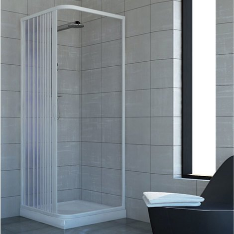 Shower Enclosure Plastic PVC mod. Acquario with side opening