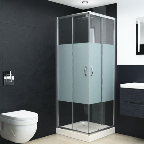 Shower Enclosure Safety Glass 70x70x185 cm
