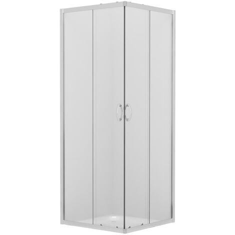 Shower Enclosure With Tray Safety Glass 80x80x185 cm