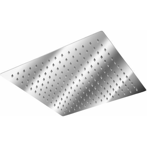 """main image of """"Shower head square, stainless steel - square shower head, fixed shower head, rain shower head"""""""
