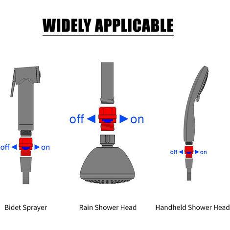 Shower Head Valve G1/2 Shut Off Valve Water Flow Control Valve Regulator