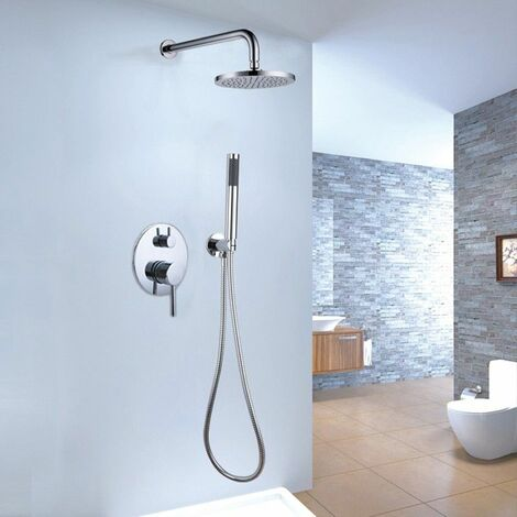 """main image of """"Thermostatic shower mixer system with rain and chrome hand"""""""