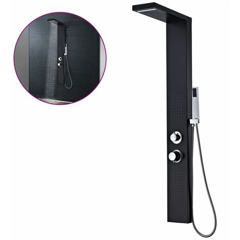 Shower Panel System Aluminium Matte Black