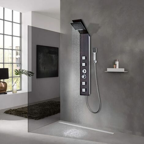 Shower Panel System Glass Brown