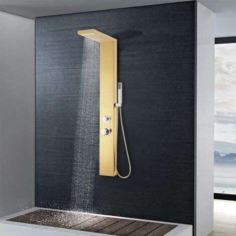 Shower Panel System Stainless Steel 201 Gold