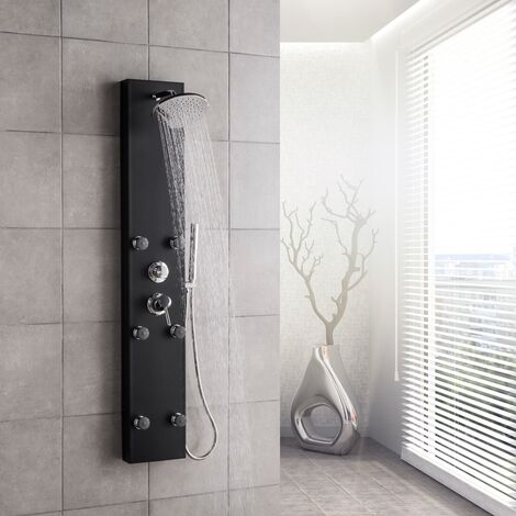 Shower Panel System Valencia black bathroom shower mixer