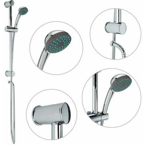 Shower Rail Set with Hand Shower Metal