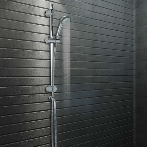 Shower Rail with Hand Shower Holder 76 cm