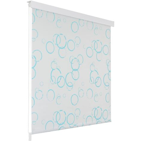 Shower Roller Blind 100x240 cm Bubble - White