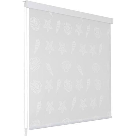 Shower Roller Blind 100x240 cm Sea Star - Grey