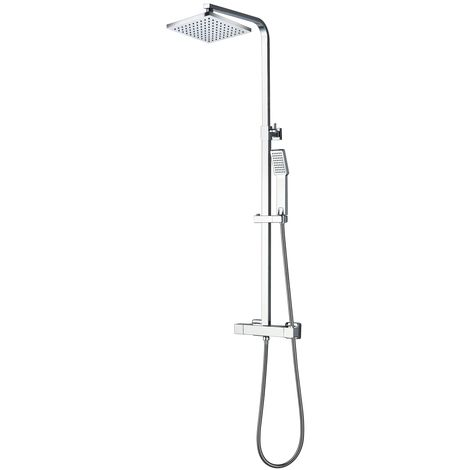 Shower set Daytona Thermostatic Rain Shower Shower System Shower Panel Chrome