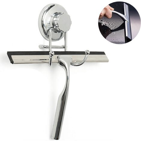 """main image of """"Shower squeegee, stainless steel window squeegee with replaceable wiper blade for bathroom window Squeegee for bathroom mirror glass cleaning"""""""