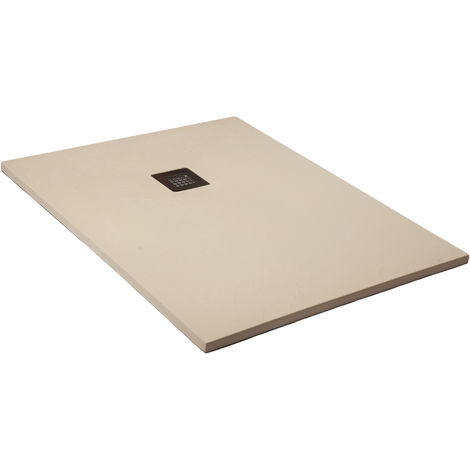 Shower tray super-slim beige Ral 1015