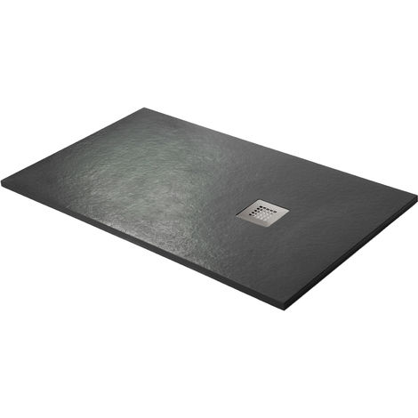 Shower tray super-slim graphite black Ral 9005