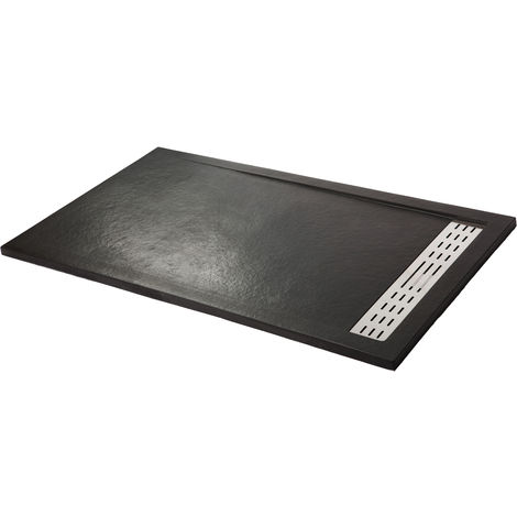Shower tray super-slim PREMIUM graphite black Ral 9005