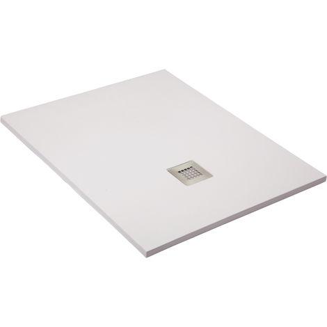 Shower tray super-slim white Ral 9003