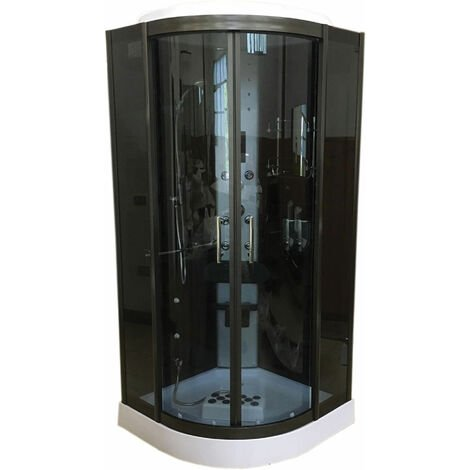 Shower Whirlpool Chromotherapy 100 x 100 cm h 215 cm New Model VANCOUVER
