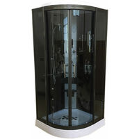 Shower Whirlpool Chromotherapy Model VANCOUVER 100 x 100 cm h 215 cm
