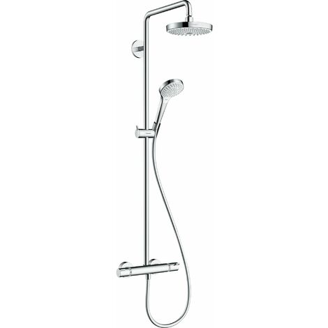 HANSGROHE Showerpipe Croma Select S 180 2jet blanc/chromé