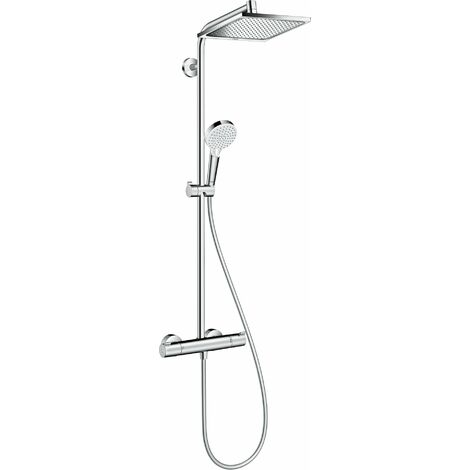 Showerpipe HANSGROHE Crometta E 240 carrée 1jet chromé