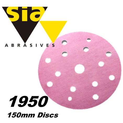 Sia 1950 150mm 15-hole sanding disc (select grade)