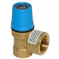 Sicherheitsventil 3/4 Zoll 6 bar Überdruckventil für Warmwasserbereitung in Brauchwasseranlagen