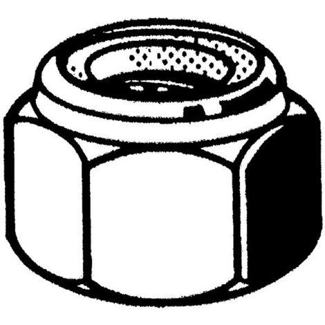 Sicherungsmuttern M10 gelb verzinkt >=|5| DIN 985 mit Kunststoffeinsatz 100 Stk